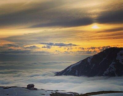北アルプス 立山連峰の夕景   絶景事典