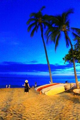 夜のビーチ   絶景事典