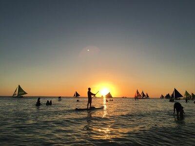 ボラカイビーチの夕日   絶景事典