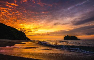 白兎海岸の夕日 | 絶景事典