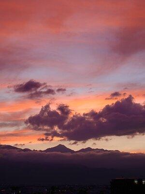 夕暮れどきの北アルプス南部 | 絶景事典