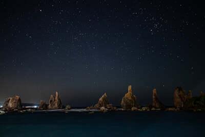 橋杭岩と星空 | 絶景事典