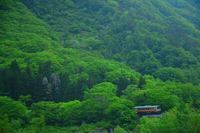 新緑の大糸線 | 絶景事典