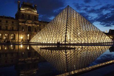 水面に映るルーヴルピラミッド | 絶景事典