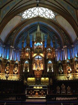 カナダ、モントリオール、ノートルダム大聖堂 | 絶景事典