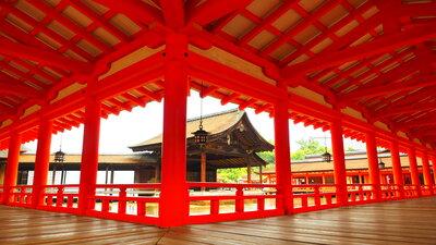 厳島神社 紅の回廊   絶景事典