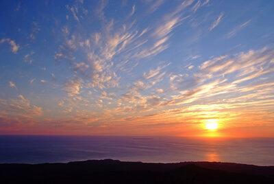 鳥海山4合目からの夕焼け | 絶景事典
