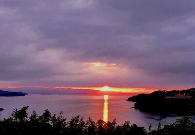 大村湾の夕焼け | 絶景事典