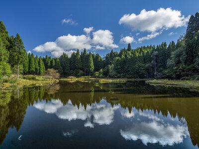 秋空に映える湿原 | 絶景事典