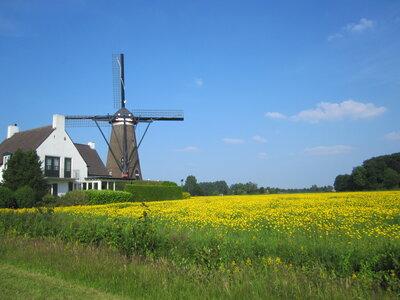 オランダ風車のある景色 | 絶景事典