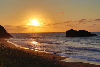 白兎海岸の夕陽 | 絶景事典