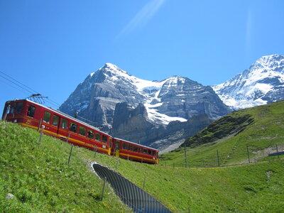 スイス 列車のある景色 | 絶景事典
