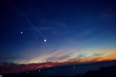 星が見える夕焼け | 絶景事典